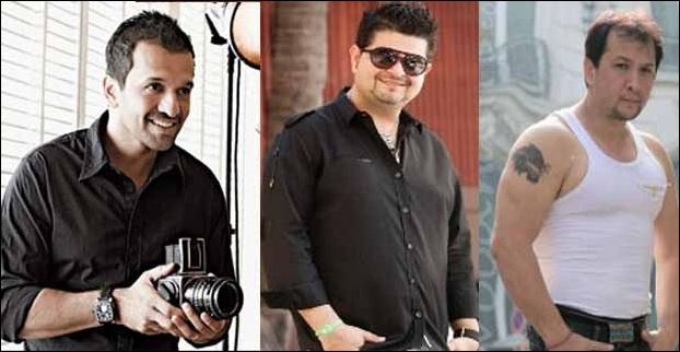 Ace Indian Fashion Photographers - Atul Kasbekar , Dabboo Ratnani And Rony Kaula (Left to Right)