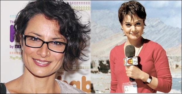 In Lakshya movie , Adhuna akhtar gave a look alike hair style of Barkha Dutt to the heroine.