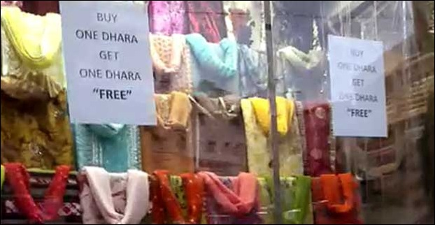 You can find many shops selling traditional khasi dress - dhara in Laitumkhrah  market