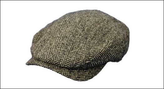 Harris tweed Ivy Cap
