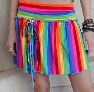 Rainbow mini-dresses of 80's