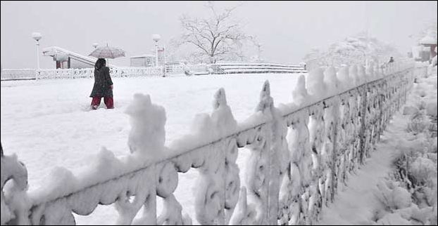 Shimla experiences snowfall between  December to February