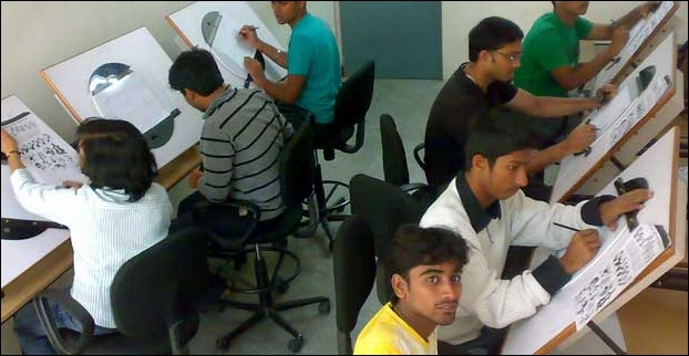 An view of an animation training Institute in India