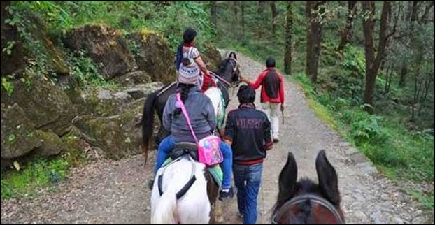 Horse Riding at BaraPathar is an enjoyable nature trek till Tiffin Top