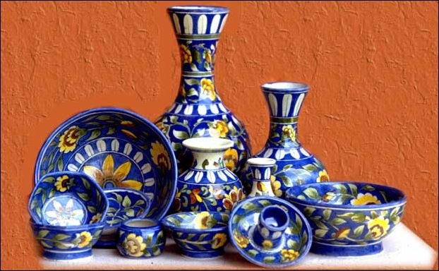 Shoppers also go for the famous blue pottery of Jaipur