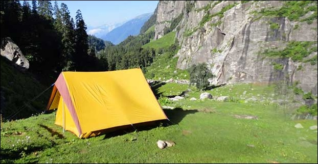Camping is a popular activity on the bank of beas river.