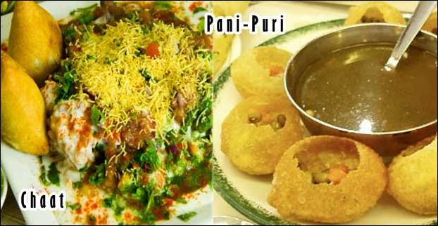 Chaats and Paani-Puri are typical street foods in Mumbai