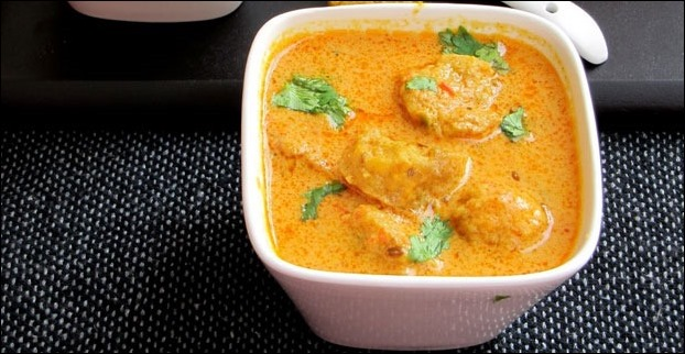 Gatte ki sabzi is another typical 'Rajasthani Dish' which you can trace in Udaipur
