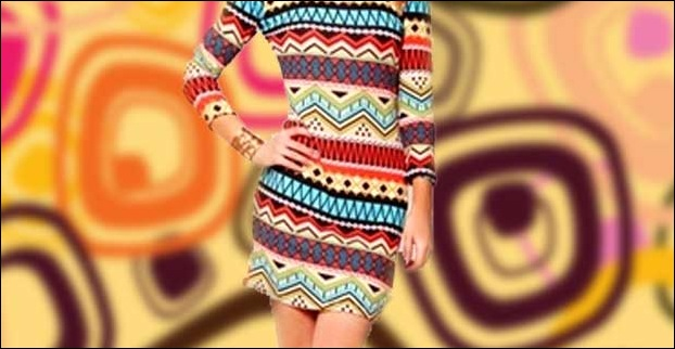 Geometric shift dresses became very popular among women of 60s