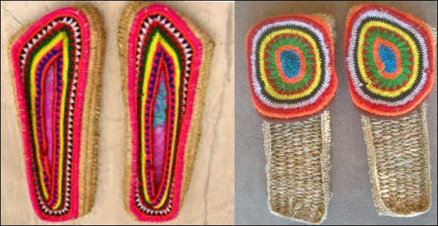 Poolan - a typical handicraft item  is a kind of indoor himachali slipper made out of dried opium stems