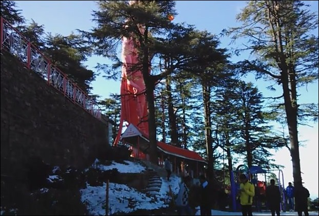 Jakhu Temple of Shimla after snowfall