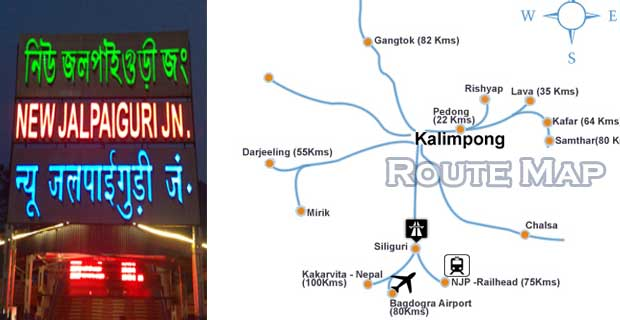 New Jalpaigudi is the pivotal point in Journey via Road or Rail towards Kalimpong