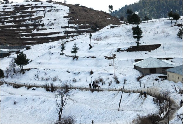 Kufri near Shimla after snowfall
