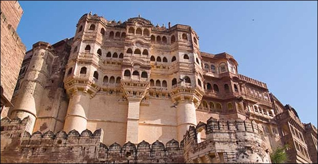 Fort of Mehrangarh in Rajasthan