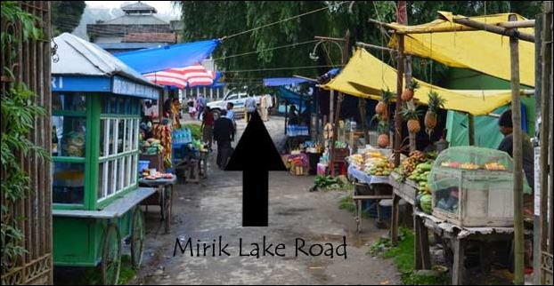This market at entry passage leads to Mirik lake