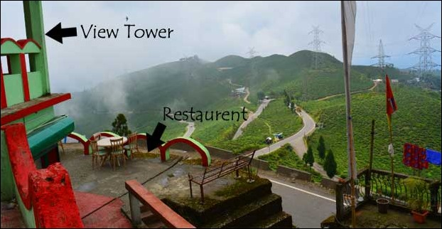 A small restaurent provides refreshment at Tingling View Point