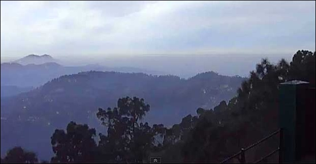 A downhill hill view from monkey point in Kasauli.