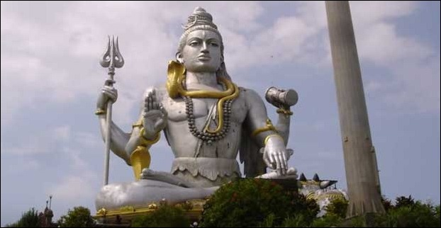 121 feet Lord Shiva's biggest statue in India at Karnataka
