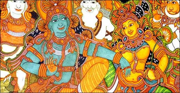 Mural painting in kerala are based on Indian mythology