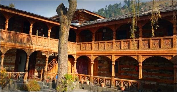 21 Kilometers of Manali , a tourist place - Naggar Castle , is a typical example of Kath-khuni style of Himachal