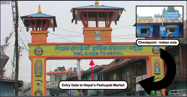 The way to Pashupati Market adjacent to Mirik-Darjeeling Road