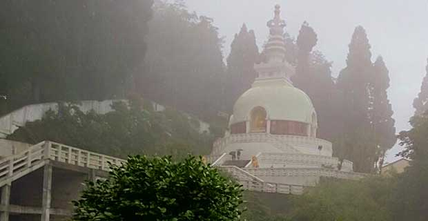 94 feet tall Peace Pagoda in Darjeeling