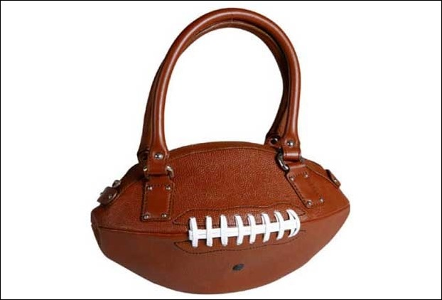 Rugby ball Shaped handbag