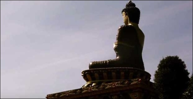 128 feet tall Tathagata Tsal's statue at Sikkim