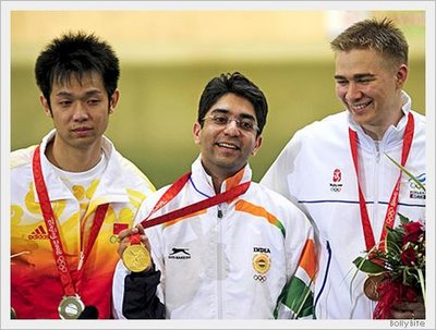 Abhinav Bindra got the first gold medal for India in Olympics