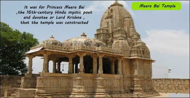 Among several beatiful temples inside the fort Meera Bai Temple is the most famous with a historical significance
