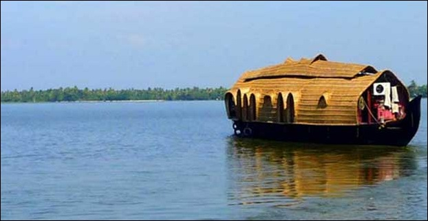 The typical backwaters of Kerala