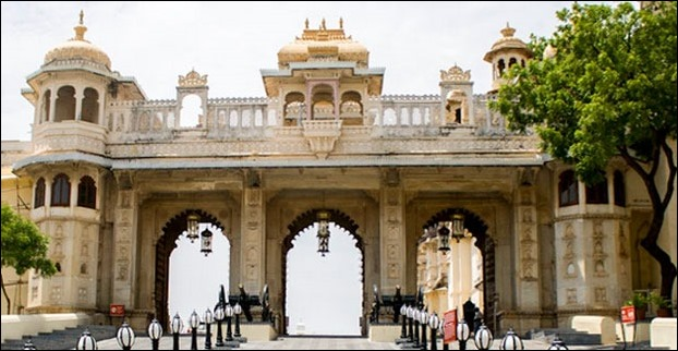 Tripolia Gate is the main entry to Udaipur Palace complex