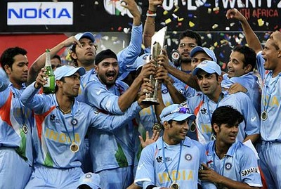 India won its 2nd world cup title in 20-20 cricket